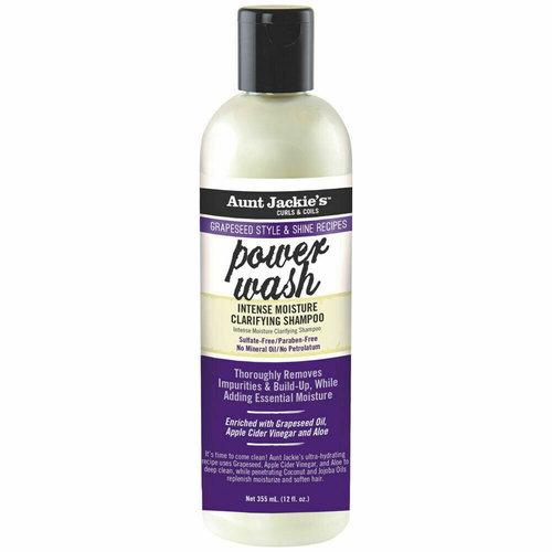 Aunt Jackie's Aunt Jackies's Grapeseed Style Clarifying Shampoo - Power Wash Intense Moisture 355ml