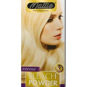 Mattie Mattie ontkleuringsset blondeerpoeder blauw 30g en waterstofperoxide 12%