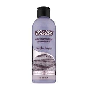 Mattie Mattie Direct Coloring Cream Semi-Permanent - White Toner 210ml