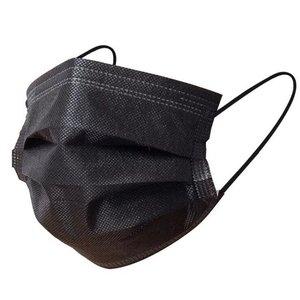 Topsoft 50x Mondmaskers - Zwart 3 Laags (topsoft)