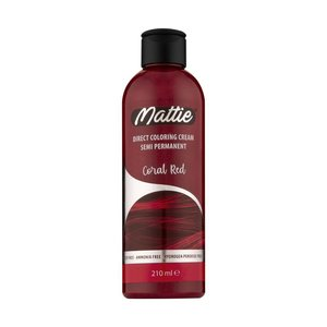 Mattie Mattie Direct Coloring Cream Semi-Permanent  - Coral Red 210ml