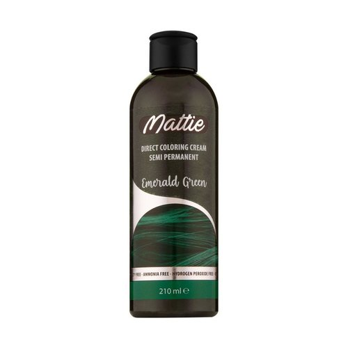 Mattie Mattie Direct Coloring Cream Semi-Permanent  - Emerald Green 210ml