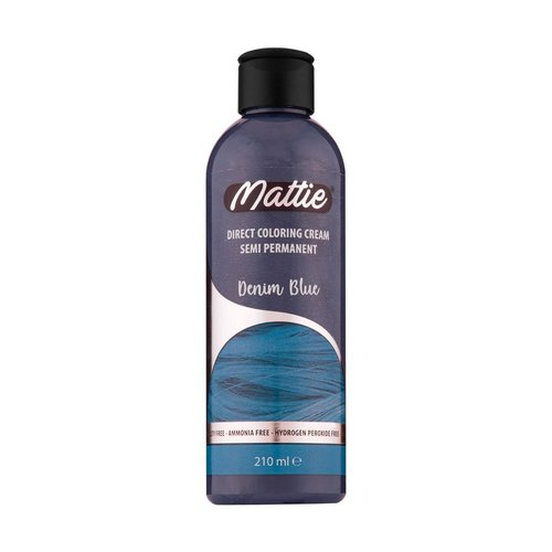 Mattie Mattie Direct Coloring Cream Semi-Permanent  - Denim Blue 210ml