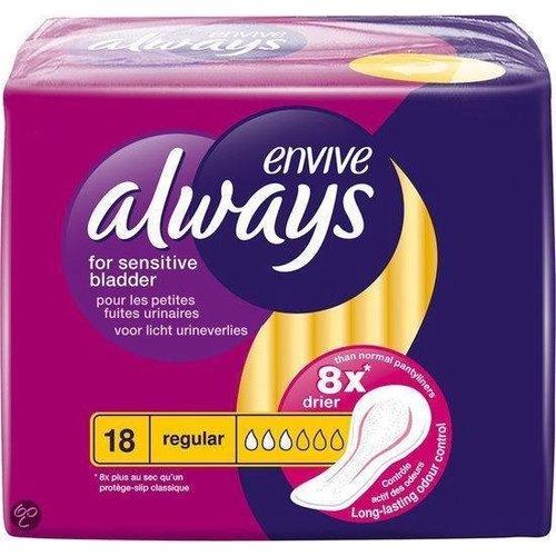 Always Always Envive Maandverband - Regular 18 stuks