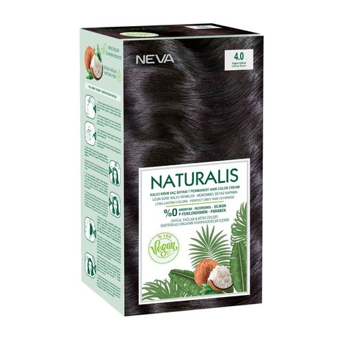 Neva Neva Naturalis Vegan Haarverf - Intens Bruin 60ml