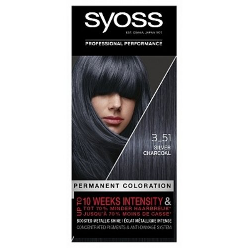Syoss Syoss Haarverf -  Silver Charcoal 3-51
