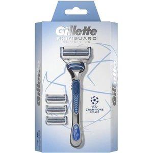Gillette Gillette Skinguard Sensitive - Scheersysteem 1Houder + 4 Scheermesjes