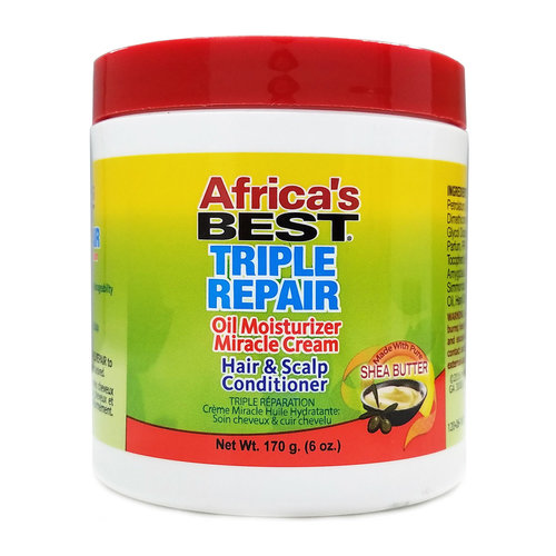 Africa's Best Africa's Best - Triple Repair Oil Moisturizer Miracle Cream with Shea Butter Hair & Scalp Conditioner 160g