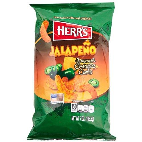 Herr's Herr's - Jalapeno Flavored Cheese Curls Chips 198.5 Gram