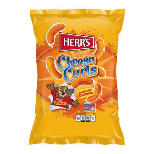 Herr's Herr's - Baked Cheese Curls Chips 198,5 Gram