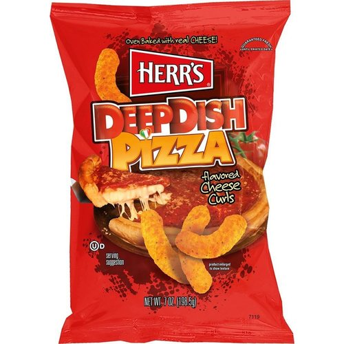 Herr's Herr's - Deep Dish Pizza Flavored Cheese Curls  Chips 198,5g