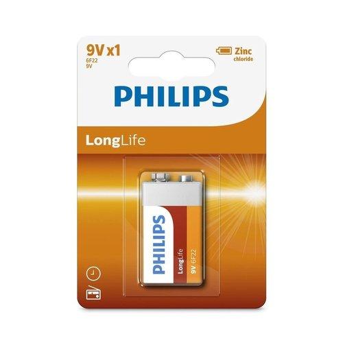 Philips Philips Longlife 6F22 - Batterij 9V 1 Stuk
