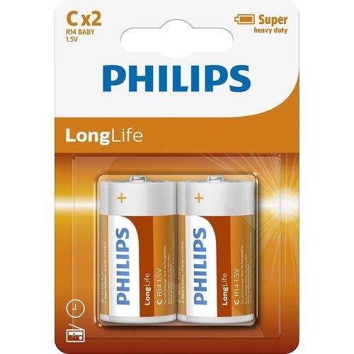 Philips Philips Longlife R14 Baby - C Batterij 2 Stuks