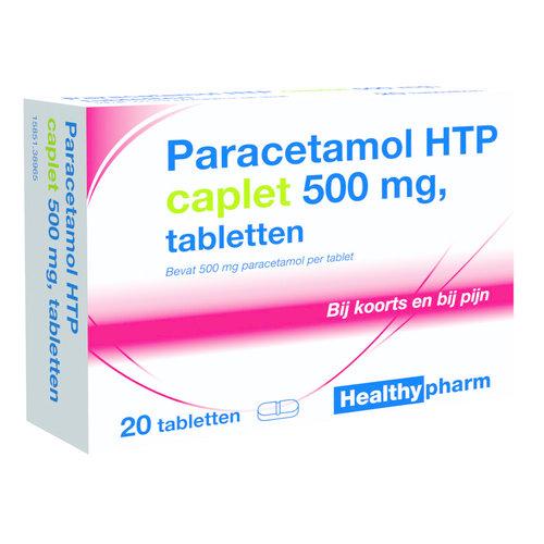 Healthypharm Healthypharm Caplet 500mg - Paracetamol 20 Stuks
