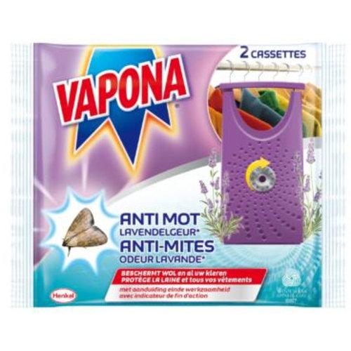 Vapona Vapona Lavendelgeur - Anti-Mot 2 Stuks