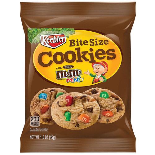 Keebler Keebler - Bite Size Cookies With Mini M&M's 45g