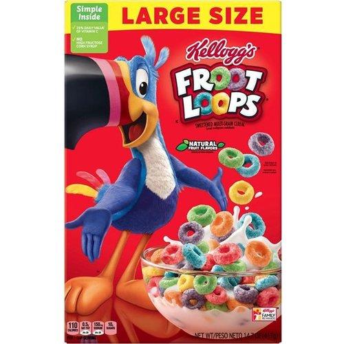 Kellogs Kellogs Froot Loops - Cornflakes 411g