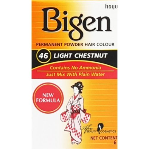 Bigen Bigen 46 Light Chestnut - Permanent Powder Hair Color 6g