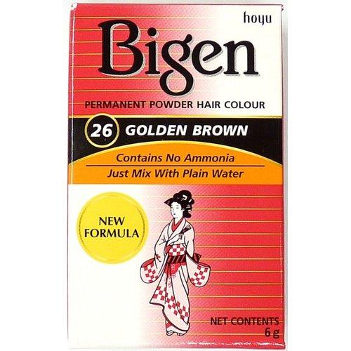 Bigen Bigen 26 Golden Brown - Permanent Powder Hair Color 6g