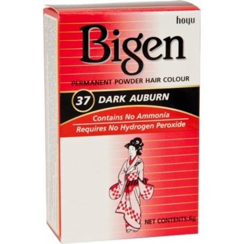 Bigen Bigen 37 Dark Auburn - Permanent Powder Hair Color 6g