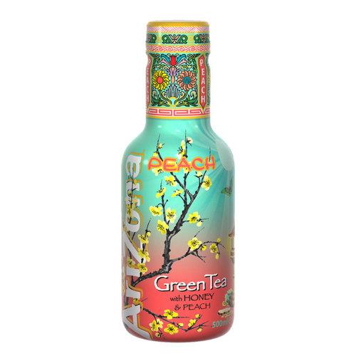 Arizona Arizona - Peach Green Tea Frisdrank 500ml