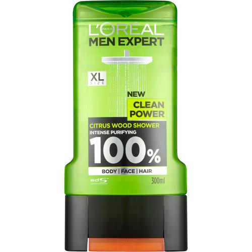 Loreal L'Oréal Men Expert Clean Power - Douchegel 300ml
