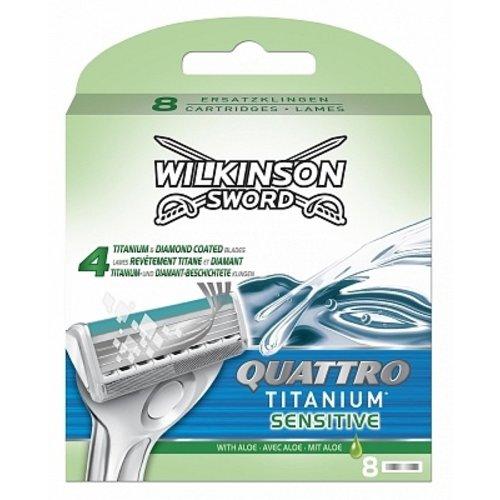 Wilkinson Wilkinson Sword Quattro Titanium Sensitive - 4 Scheermesjes