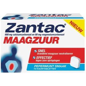 Zantac Zantac Maagzuur - Kauwtabletten 72 Stuks