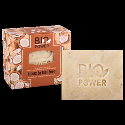 Biopower Biopower kokos en klei zeep 125g