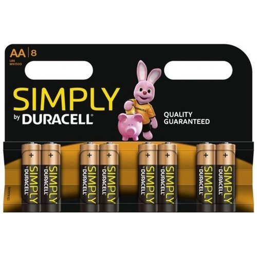 DURACELL Duracell Simply AA - 8 Stuks