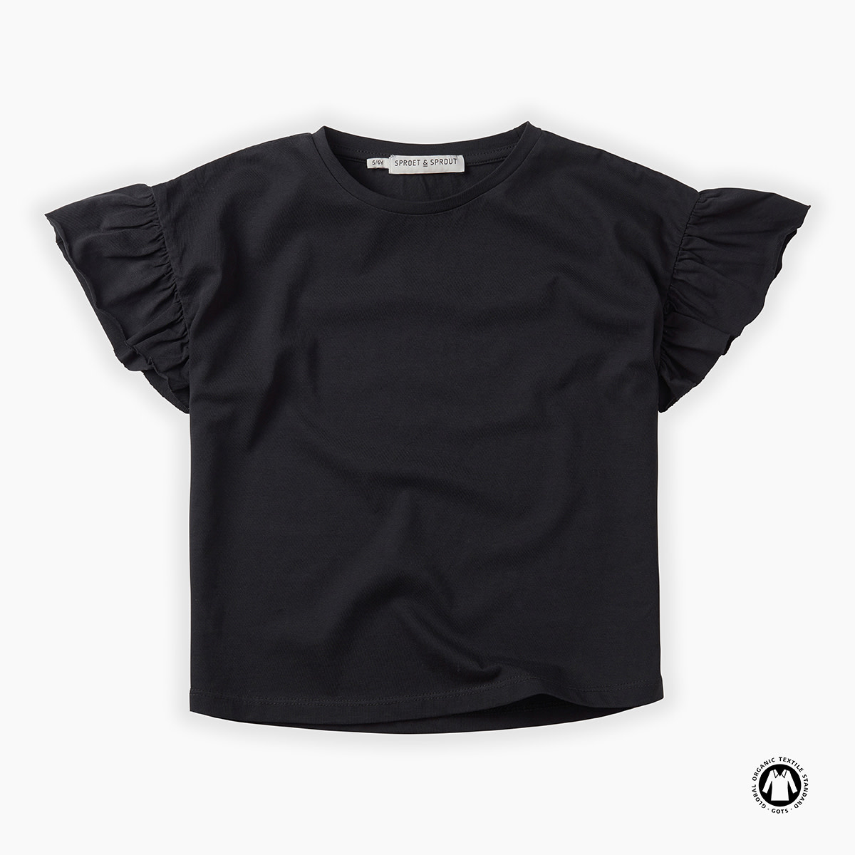 Sproet & Sprout Sproet & Sprout - T-shirt Grey Ruffle