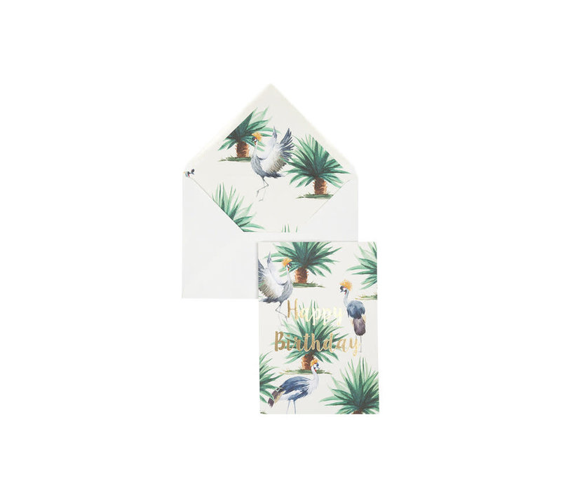 Wenskaart Wild Palms: Happy Birthday - Creative lab