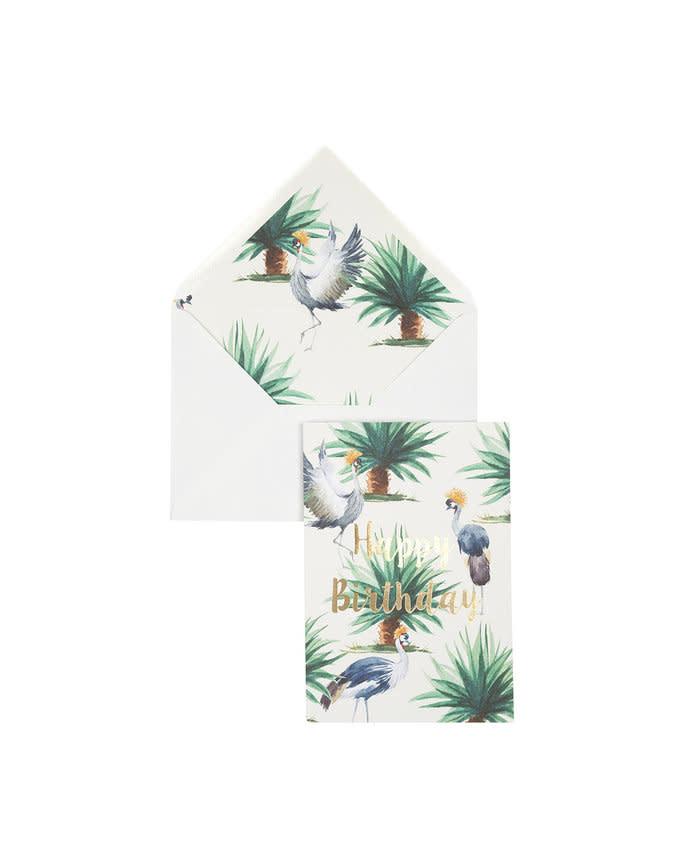 Creative Lab Wenskaart Wild Palms: Happy Birthday - Creative lab