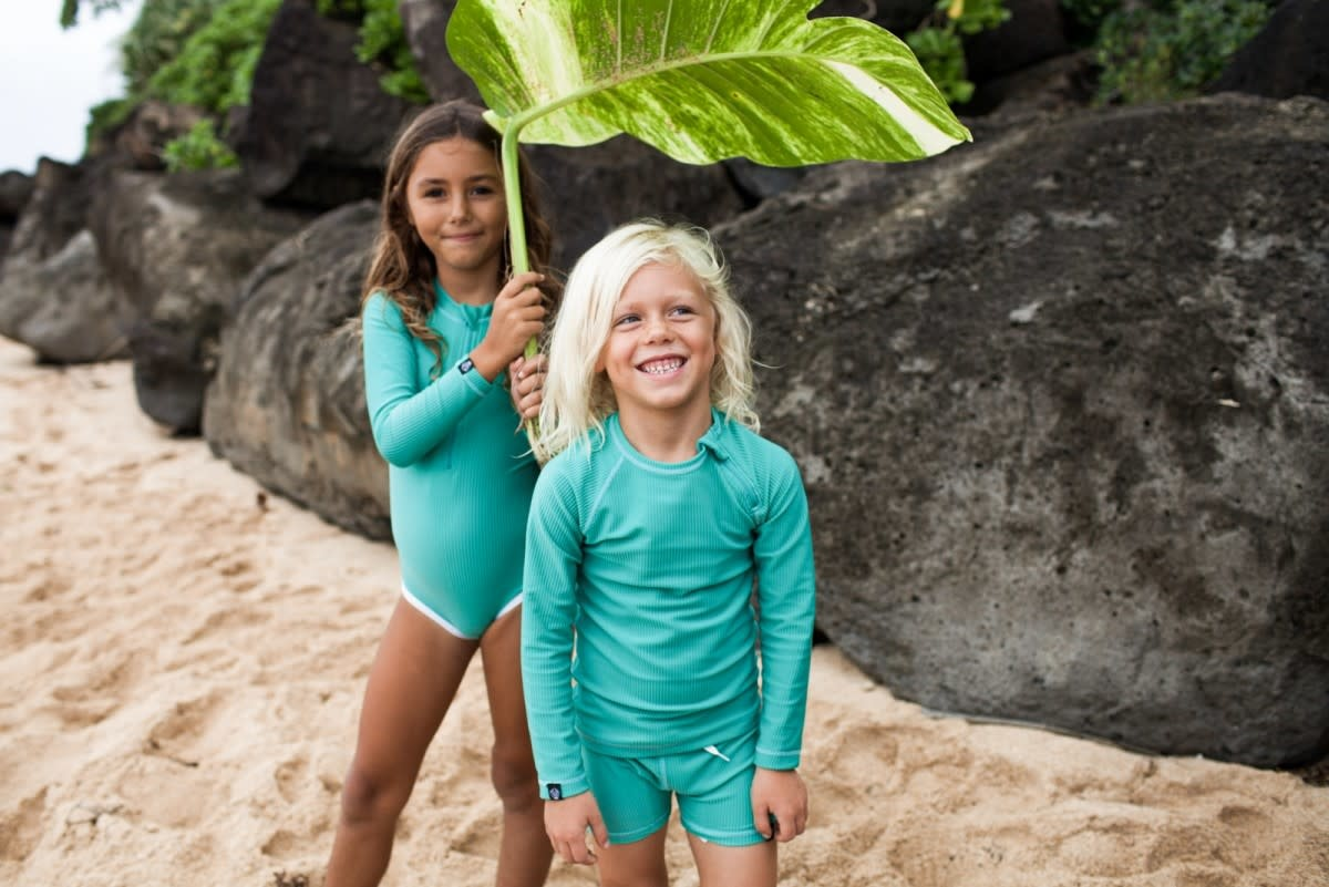 Beach & Bandits Beach & Bandits - Ribbed t-shirt Lagune Green