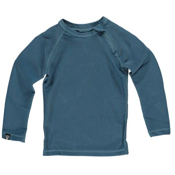 Beach & Bandits Beach & Bandits - Ribbed t-shirt pacific blue