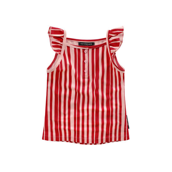 Your Wishes Your Wishes - Pink Stripes Ruffle Singlet