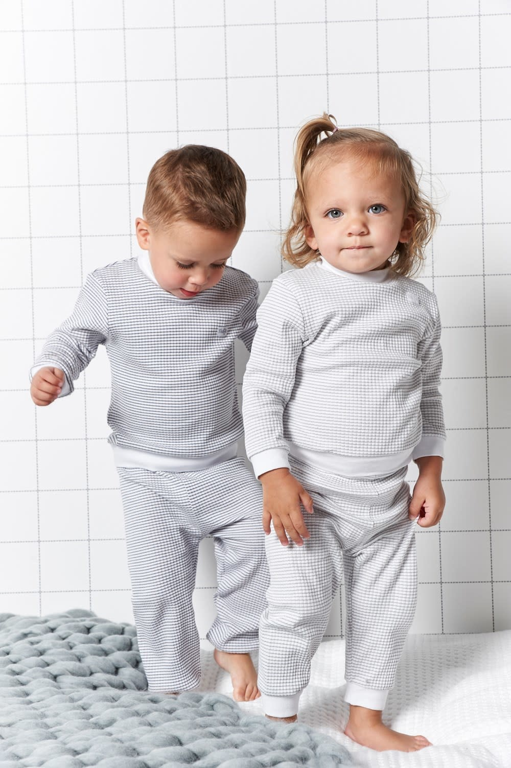 Feetje Feetje -  Pyjama wafel grey