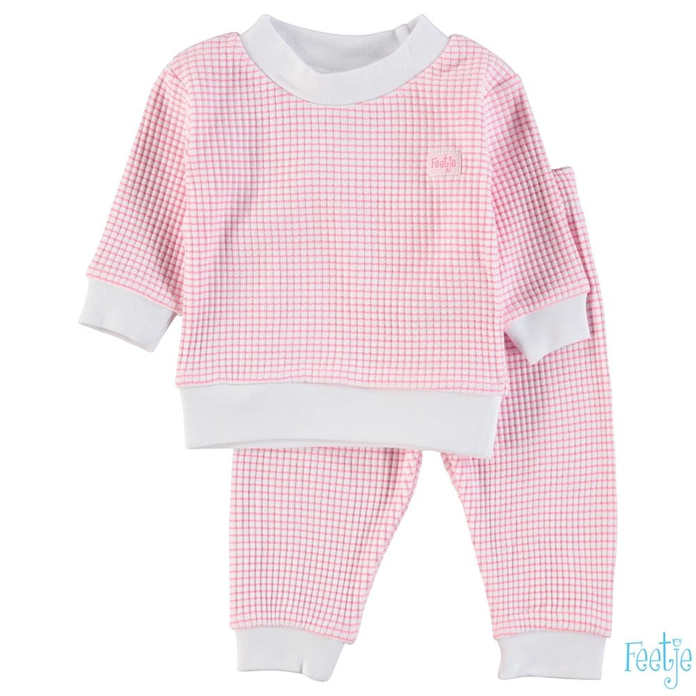Feetje Feetje -  Pyjama wafel Pink