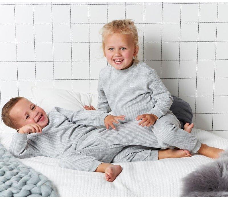 Feetje - pyjama wafel melange Grijs