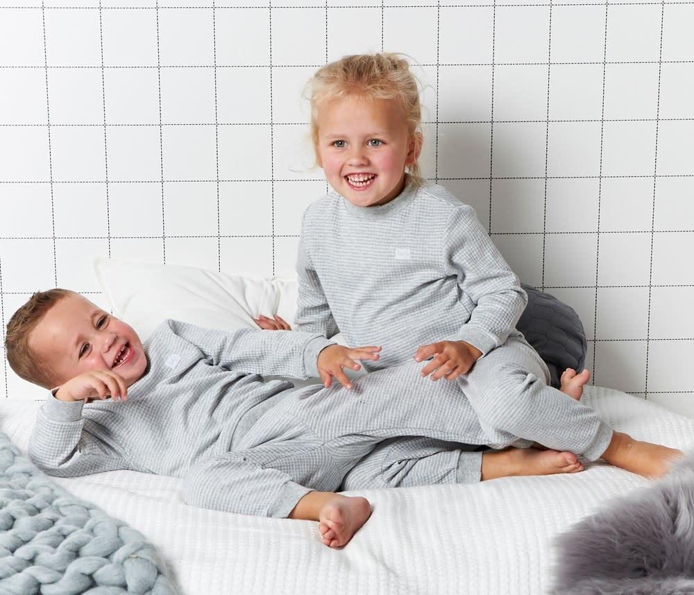 Feetje Feetje - pyjama wafel melange Grijs