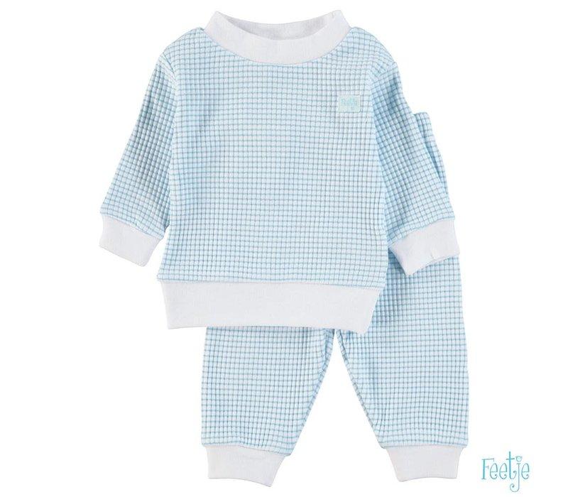 Feetje -  Pyjama wafel azuur