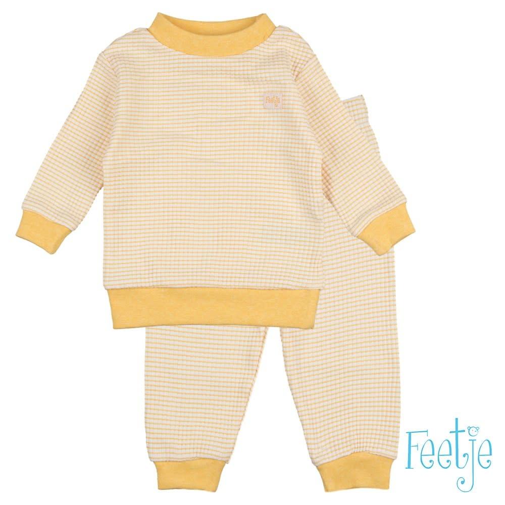 Feetje Feetje -  Pyjama wafel Okergeel