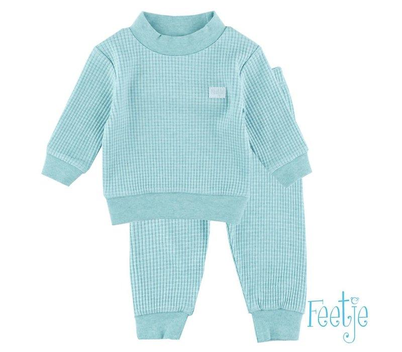 Feetje - pyjama wafel melange Groen