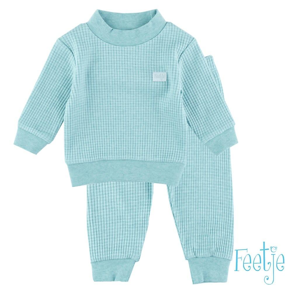 Feetje Feetje - pyjama wafel melange Groen
