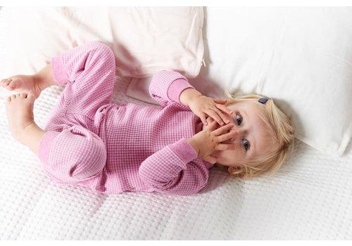 Feetje Feetje - pyjama wafel melange Roze