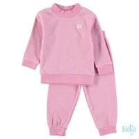 Feetje - pyjama wafel melange Roze