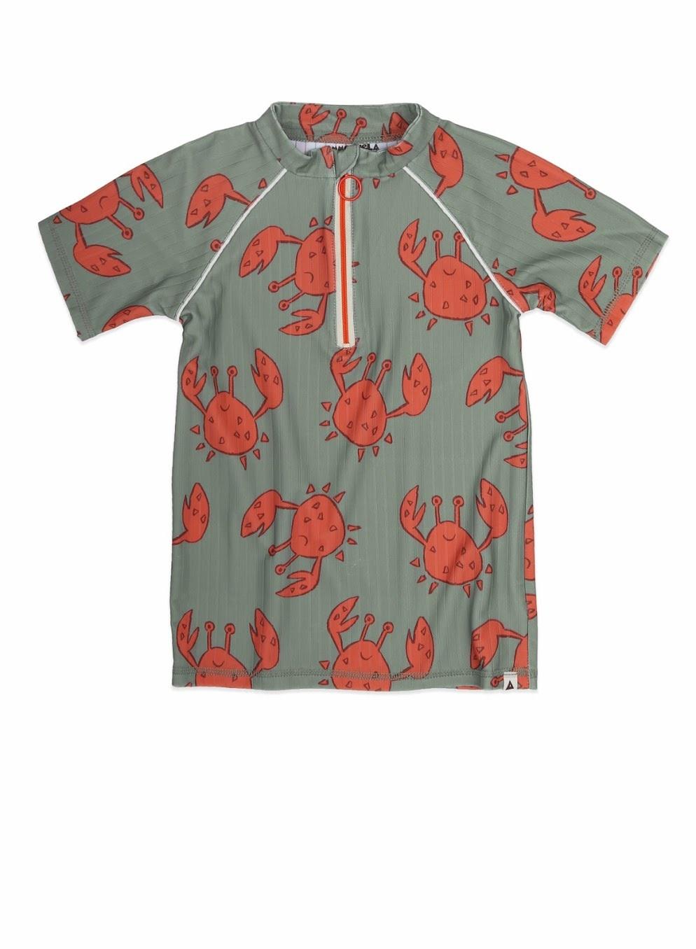 Ammehoela Ammehoela - Swim shirt Dorian SS Happy Crab