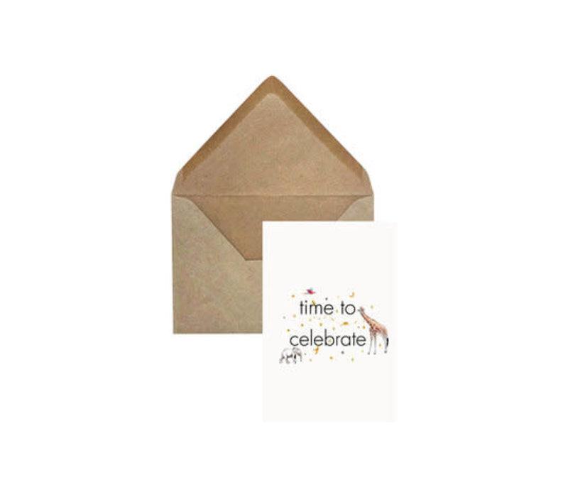 Creative Lab - Time to Celebrate - Elephant grass card