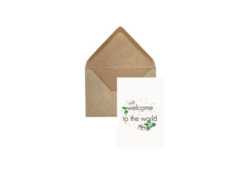 Creative Lab Creative Lab - Welcome to the world - Elephant grass card