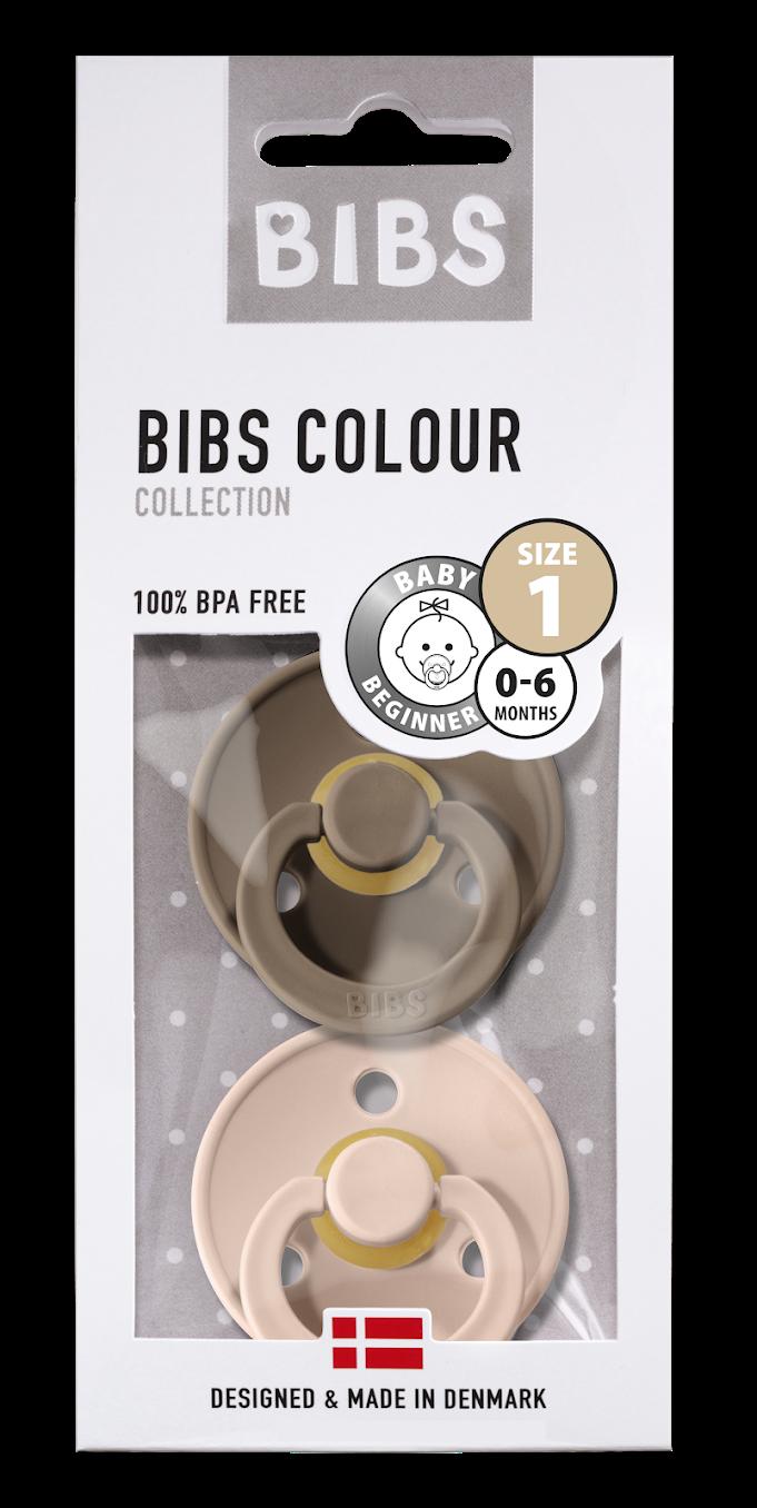 Bibs Bibs T1 - 2pack Blush/Dark Oak